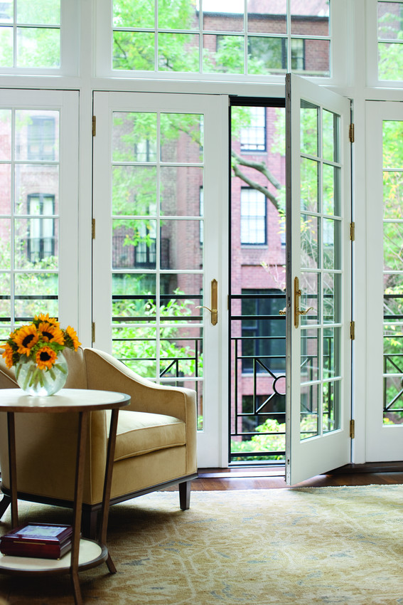 Andersen A Series French White Woodclad Inswing Doors - Patio