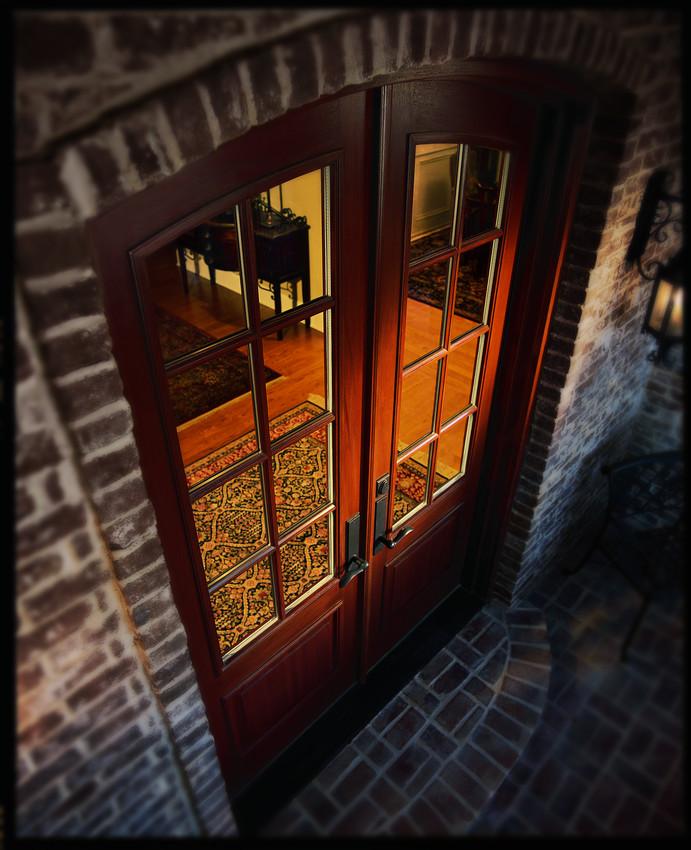 Custom Archtop Door - Entrance