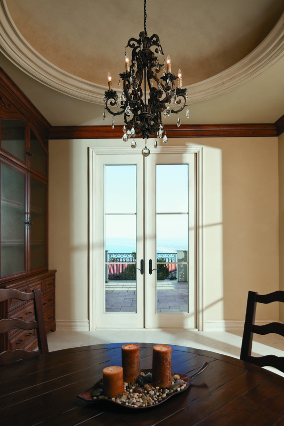 White Andersen French Inswing Classic French Doors with Horizontal Grids - Patio