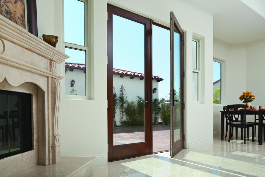 Wood Andersen A Series 1 Lite Inswing French Doors - Patio