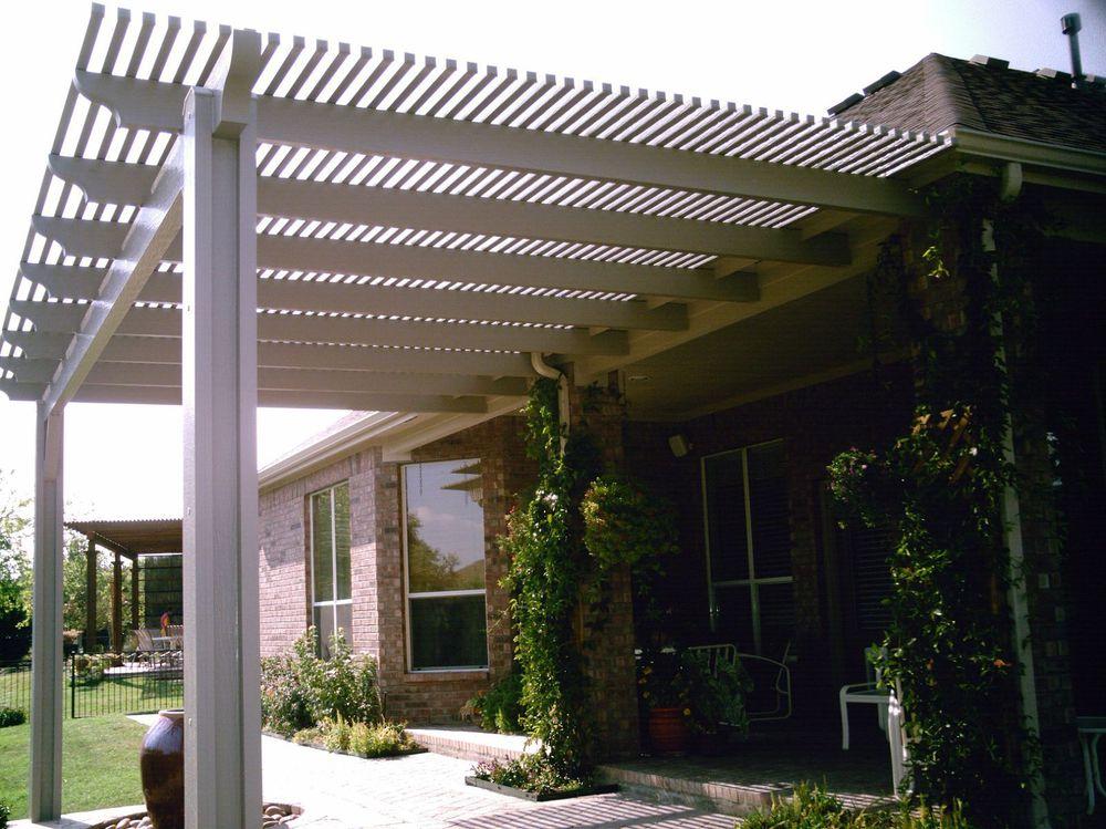 Aluminum Pergola Tied to Existing Roof - Pergolas