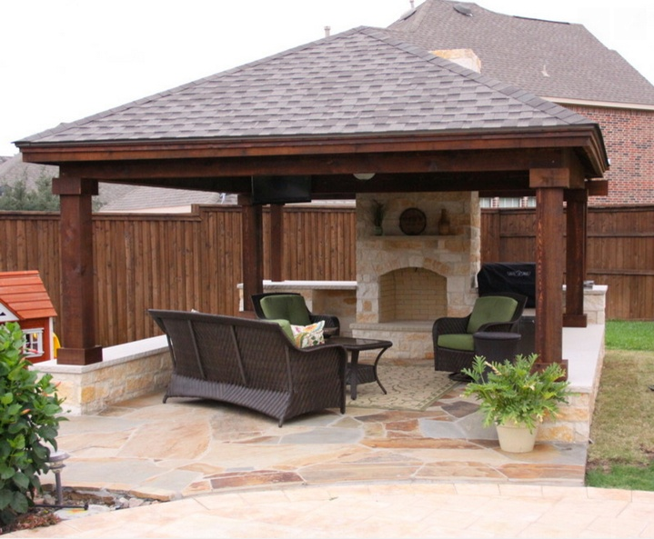 Cedar and Shingle Solid Patio Cover - Patio Covers