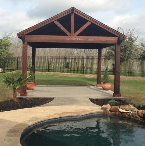 Cedar Covered Area - Patio Covers