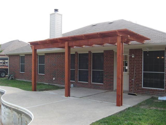 Cedar Pergola Attached To Roof