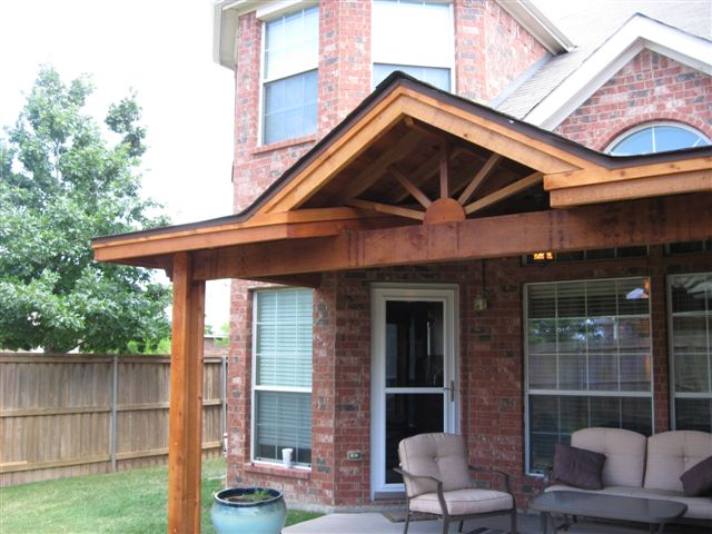 Cedar Starburst Pattern on Patio Cover - Patio Covers