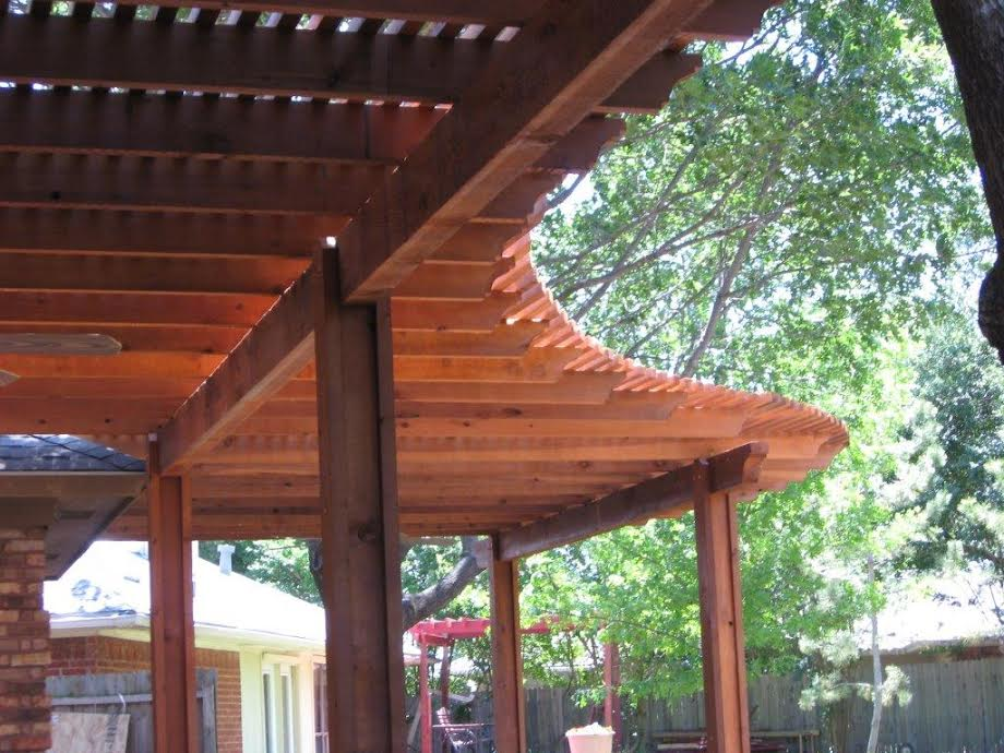 Curved Stained and Sealed Cedar Pergola - Pergolas