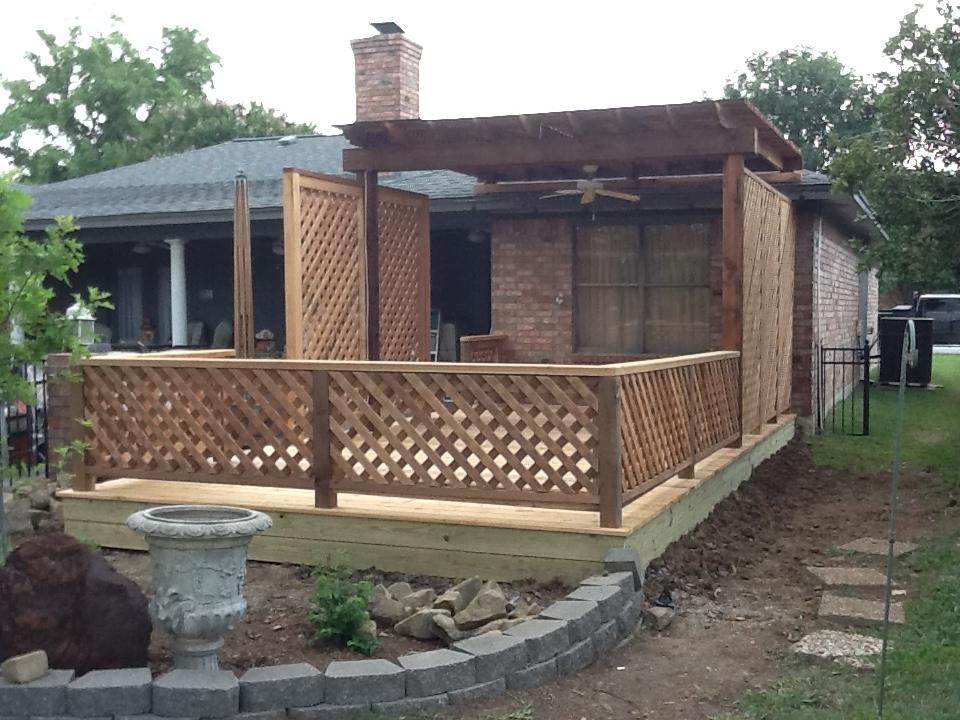 Custom Cedar Pine Deck - Decks
