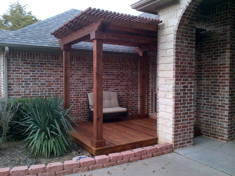 Custom Cedar Deck and Pergola - Pergolas