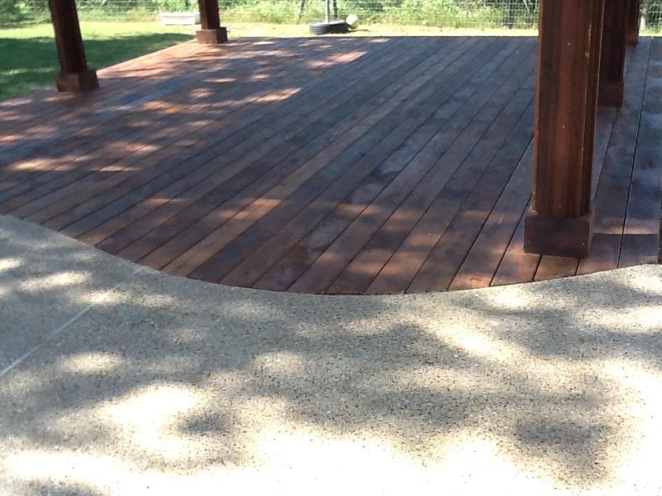 Custom Curved Cedar Decking - Decks