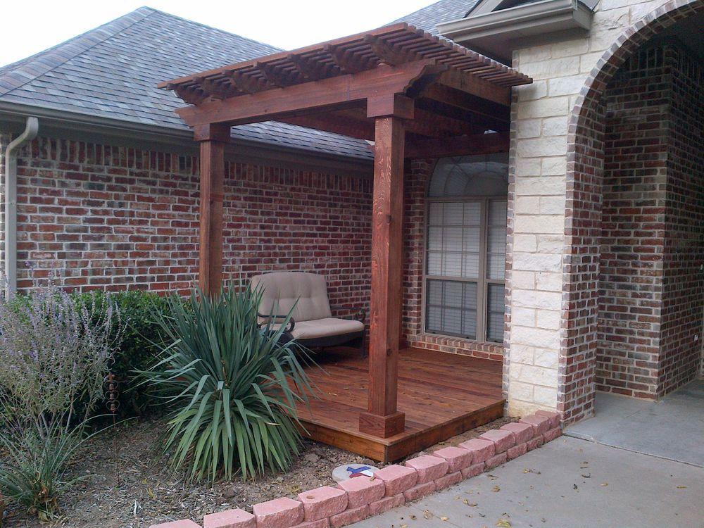 Entranceway Cedar Pergola and Deck - Decks