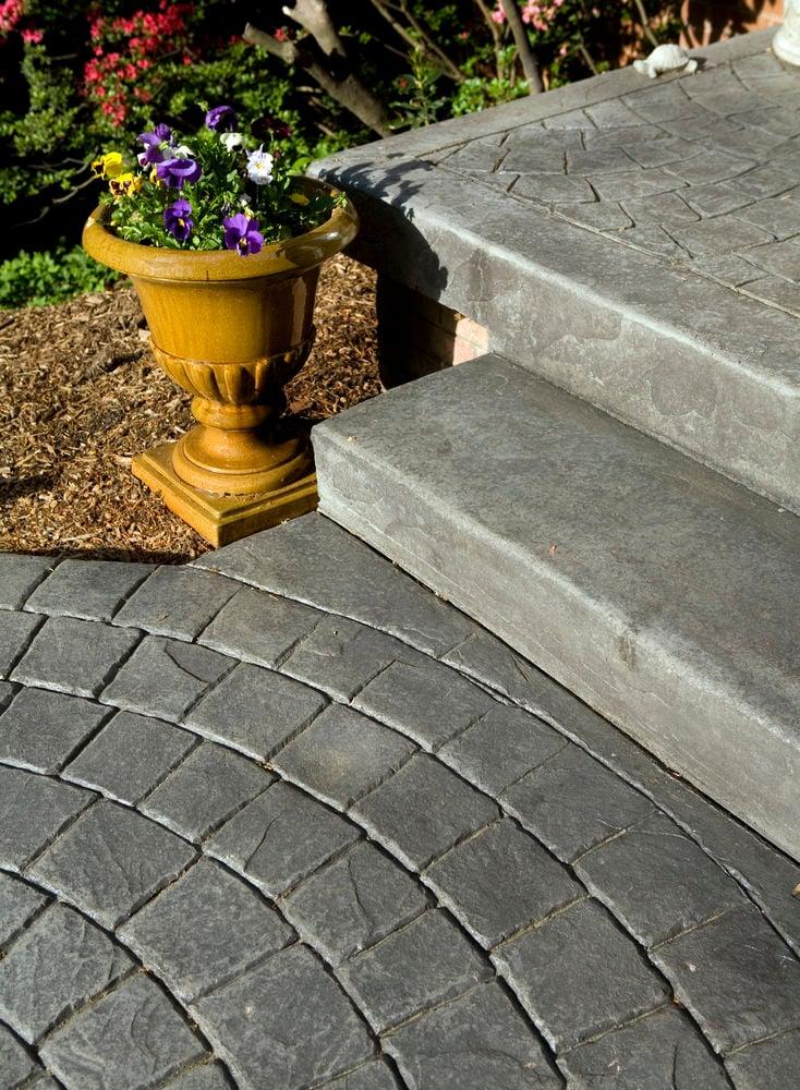 Etched Concrete Walkway - Landscape Design