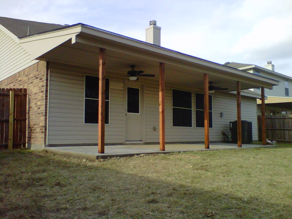 Existing Tie in to Roof with Cedar Columns - Patio Covers