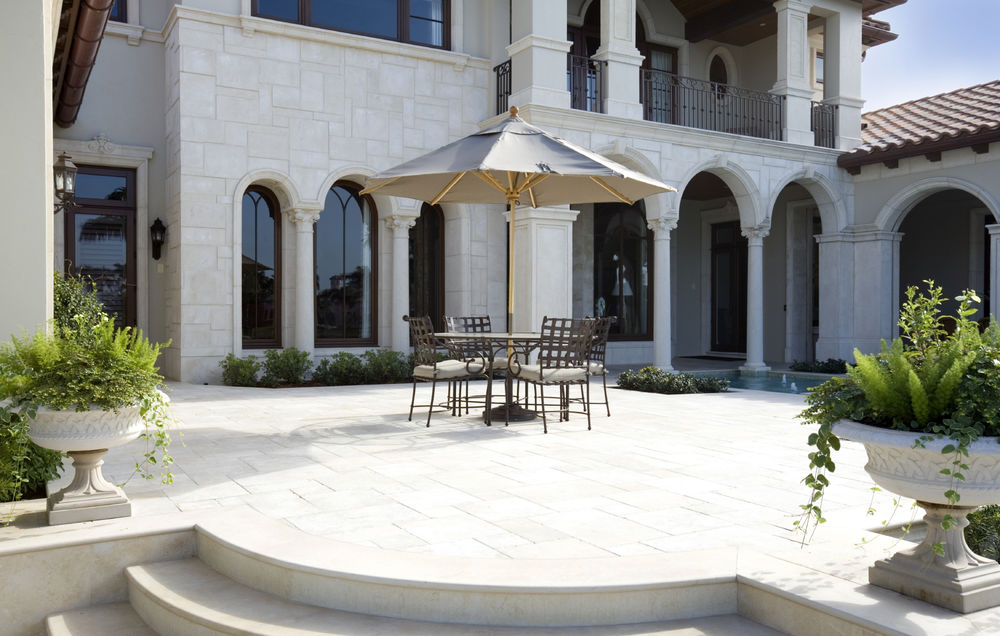 Limestone Block Flooring - Landscape Design