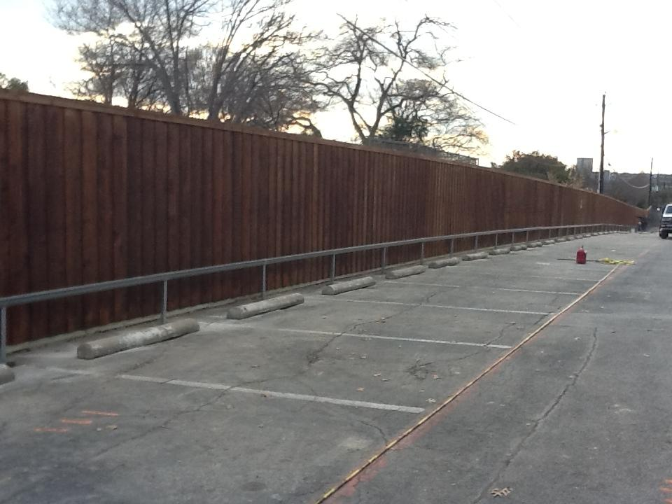 Oversized Board on Board Fench and Steel Railings  - Fencing