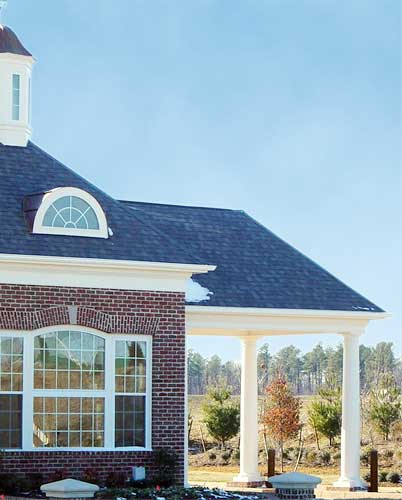 Patio Cover With White Columns - Patio Covers