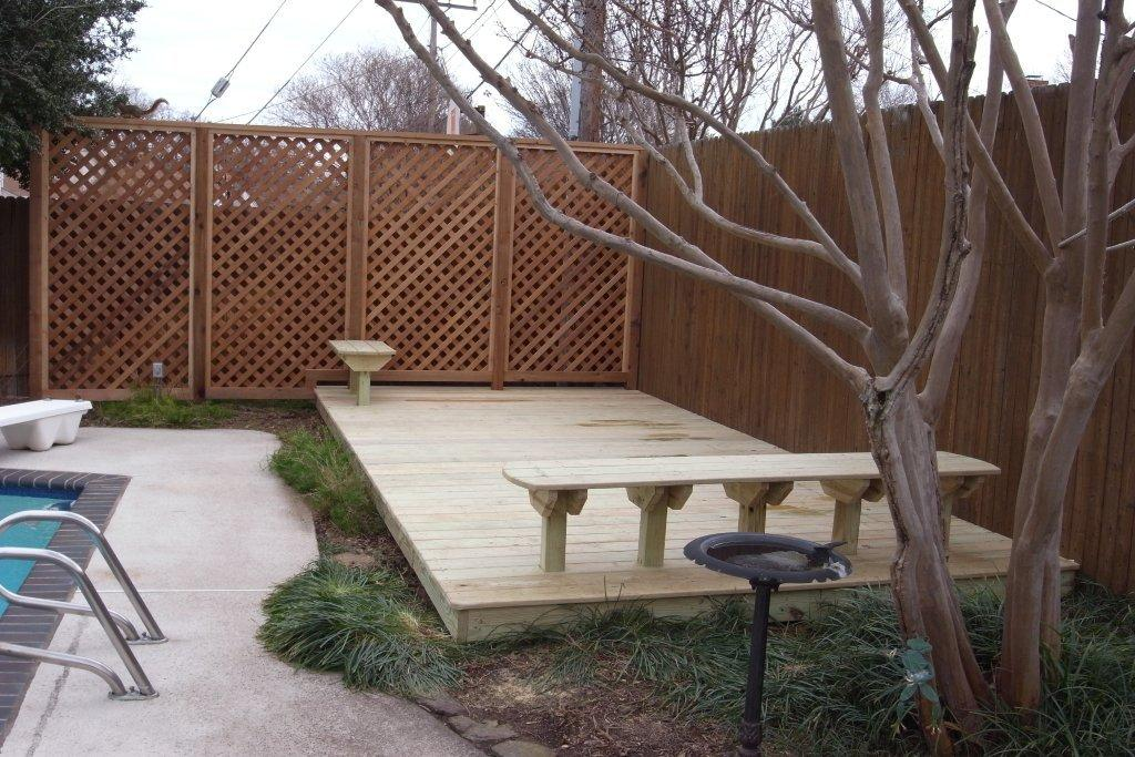 Pine Decking and Built in Seating - Decks