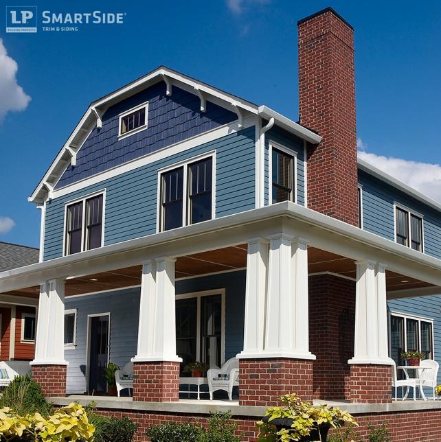 Blue LP Smartside Engineered Shake Siding - Shake