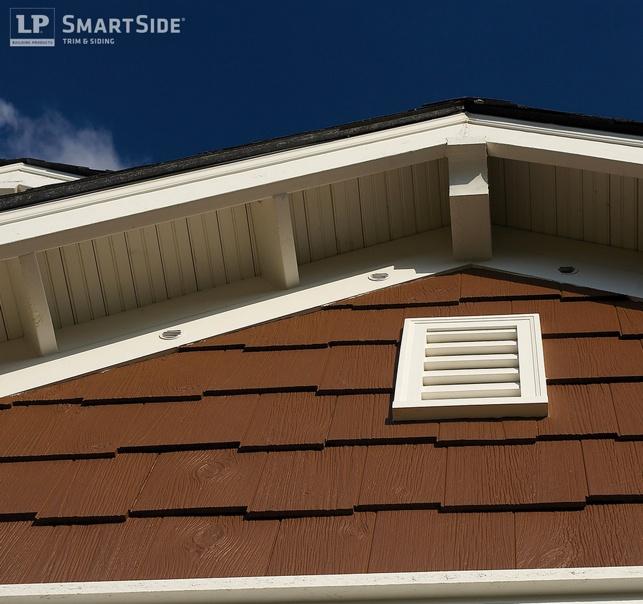 Brown LP Smartside Engineered Shake Siding - Shake