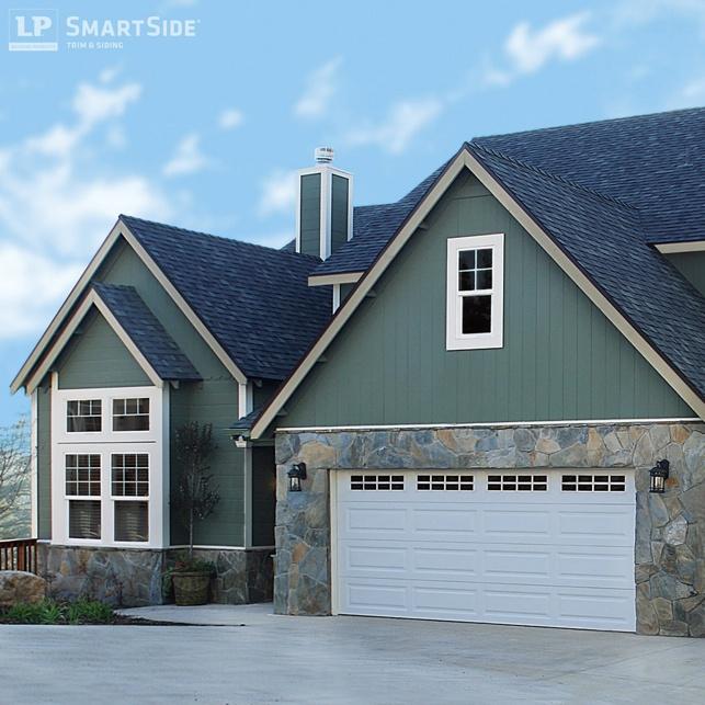 LP Smartside Engineered Siding Green Panels - Engineered