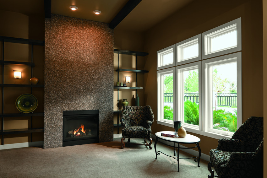 Andersen 100 Series Fibrex Picture Windows with White Interior - Picture