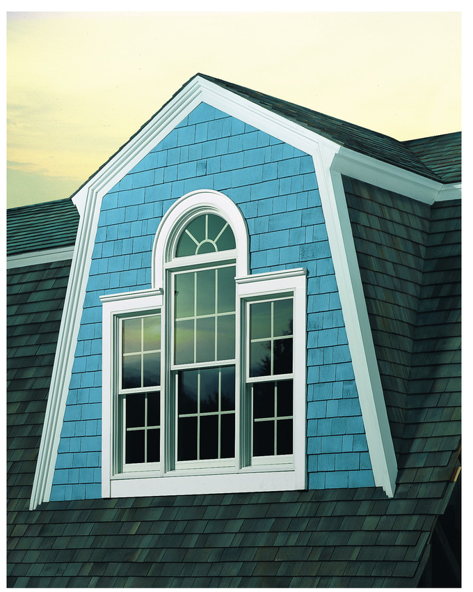 Andersen 400 Series Double Hung Windows with a Half Round Transom - Double Hung