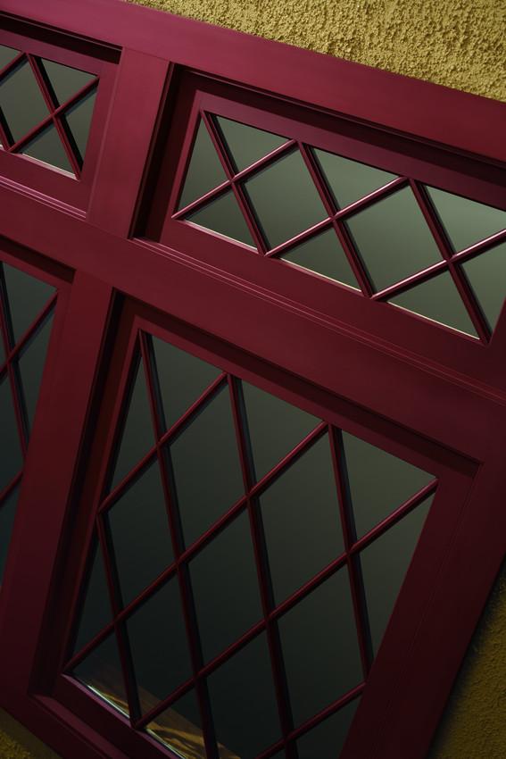 Andersen A Series Clad Casmenet Windows with a Diamond Grid Pattern - Casement