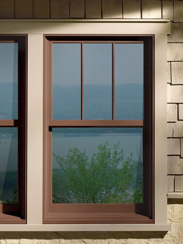 Andersen A Series Woodclad Double Hung with Fractional Grids - Double Hung