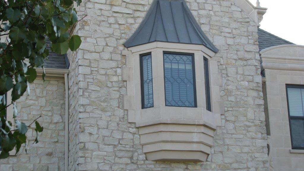 Brennan Traditions Bronze Vinyl Picture Windows with Diamond Grids  - Vinyl