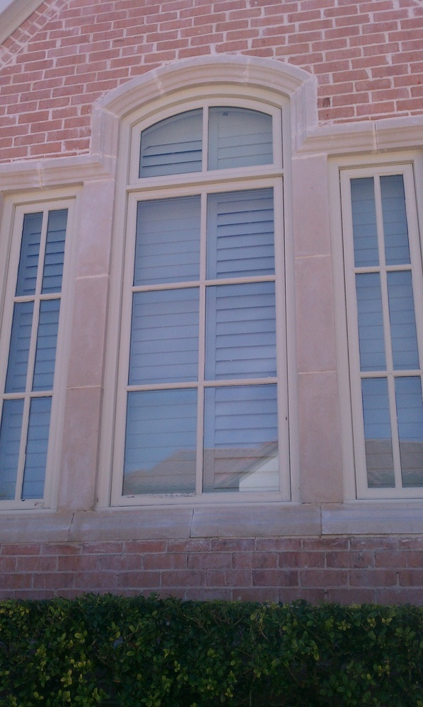 Cast Stone and Vinyl Casement Replacement Windows - Vinyl