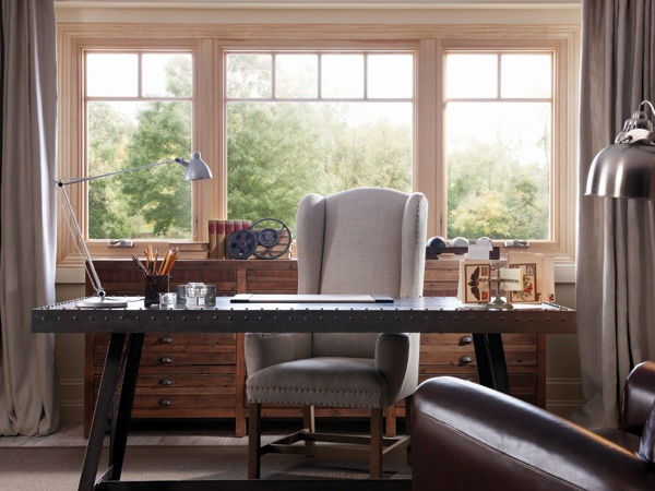 Milgard Essence Wood and Fiberglass Casment Windows with Split Rail Grids - Fiberglass