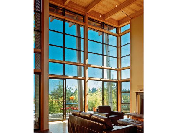 Milgard Thermal Break Aluminum Windows on Modern Angular Home - Aluminum
