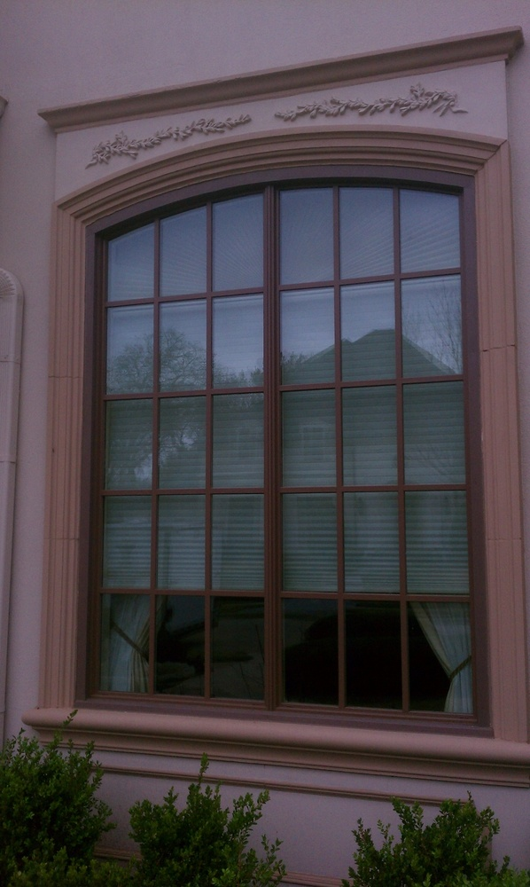 Milgard Woodclad Arched Twin Window Unit - Wood