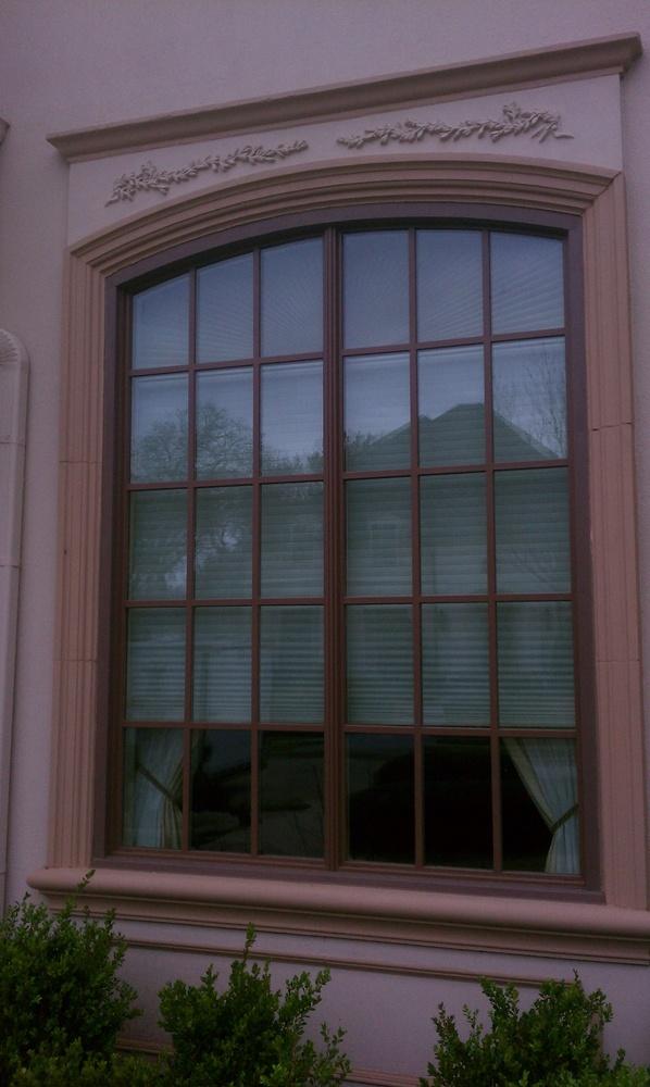 Milgard Woodclad Arched Twin Window Unit - Wood