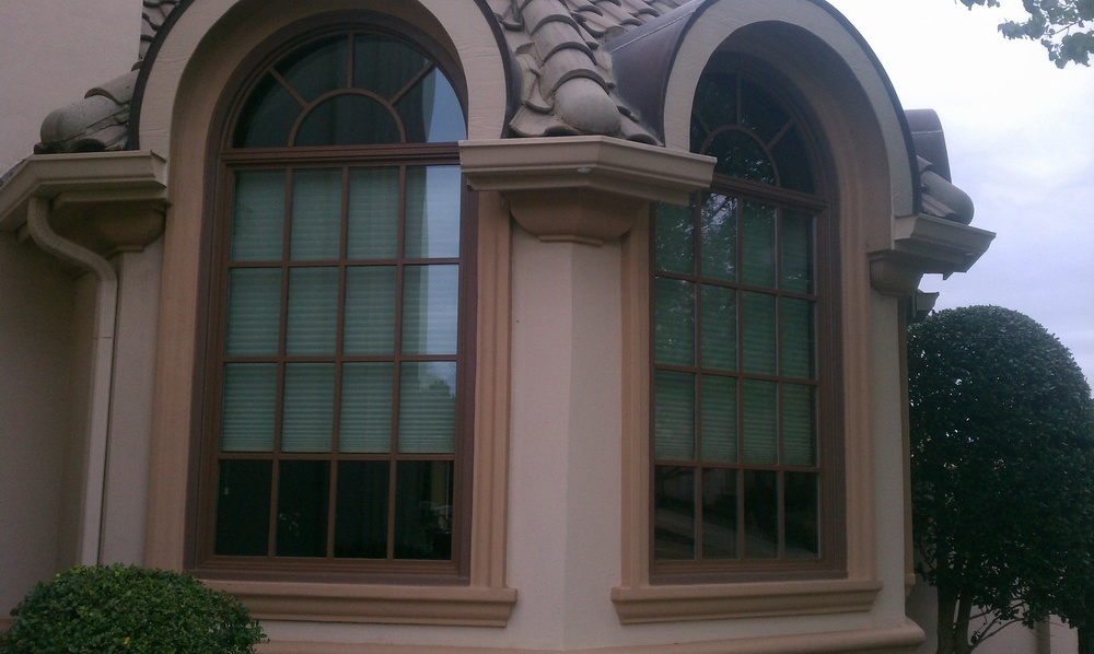 Milgard Woodclad Windows with Arched Transom - Wood