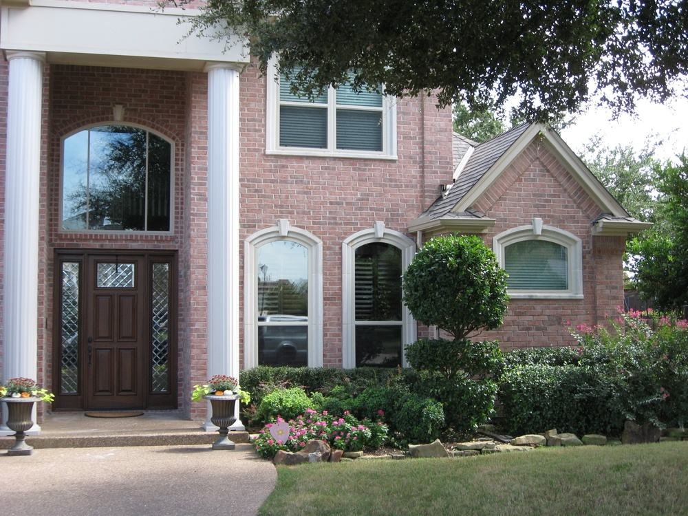 Oversized Vinyl Replacement Windows and Arched Top Single Hung Windows with Cast Stone - Vinyl