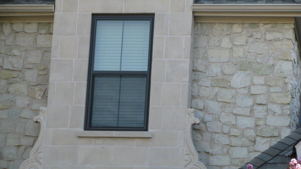 Brennan Traditions Painted Bronze Vinyl Windows with Stone- Vinyl