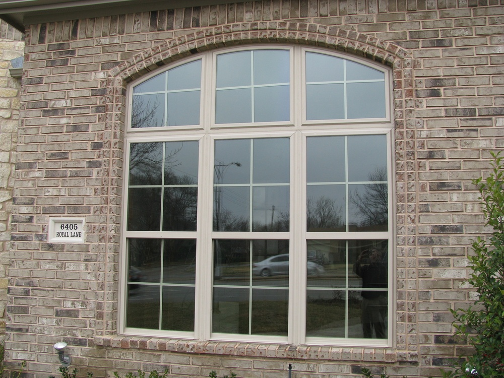 Triple Mulled Single Hungs with Arched Transom - Vinyl