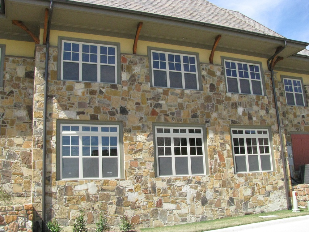White Vinyl Single Hung Windows with Transoms and SDL Grids  - Vinyl